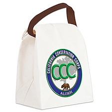 CCC Alumni logo blue/green Canvas Lunch Bag