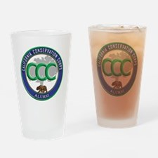 CCC Alumni logo blue/green Drinking Glass