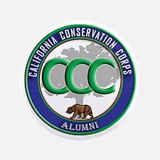 "CCC Alumni logo blue/green 3.5"" Button"