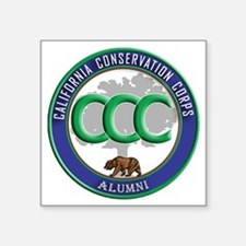 "CCC Alumni logo blue/green Square Sticker 3"" x 3"""