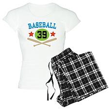 Baseball Player Number 39 Pajamas