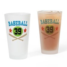 Baseball Player Number 39 Drinking Glass