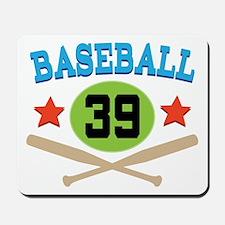 Baseball Player Number 39 Mousepad