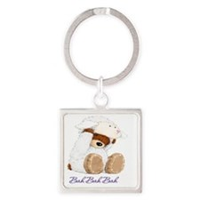 Bear Lamb Square Keychain