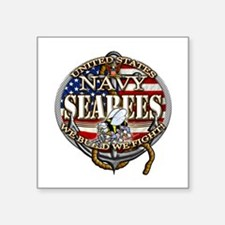 US Navy Seabees Anchor Flag s Sticker