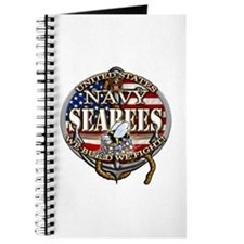 US Navy Seabees Anchor Flag s Journal