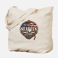 US Navy Seabees Anchor Flag s Tote Bag