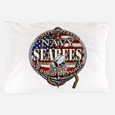 US Navy Seabees Anchor Flag s Pillow Case