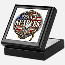 US Navy Seabees Anchor Flag s Keepsake Box