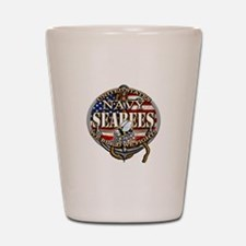 US Navy Seabees Anchor Flag s Shot Glass
