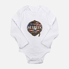US Navy Seabees Anchor Flag s Body Suit