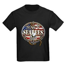 US Navy Seabees Anchor Flag s T-Shirt