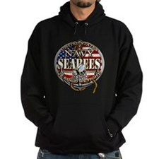 US Navy Seabees Anchor Flag S Hoodie
