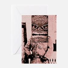 Tiki Mask man Greeting Card