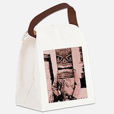 Tiki Mask man Canvas Lunch Bag