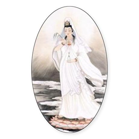 Kwan Yin Oval Sticker