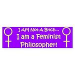 Feminist Philosopher Bumper Sticker