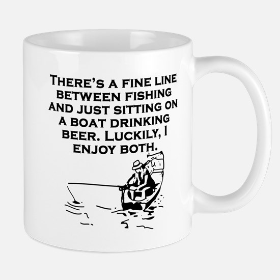 Fishing And Sitting In A Boat Mugs