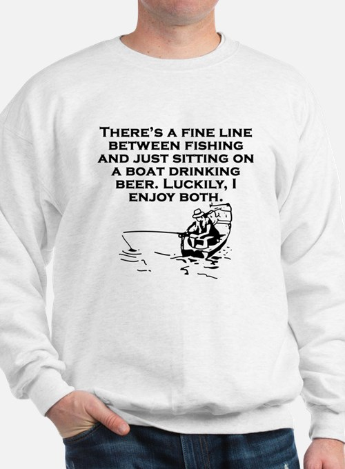 Fishing And Sitting In A Boat Sweatshirt