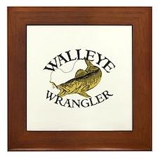 Walleye Wrangler Framed Tile