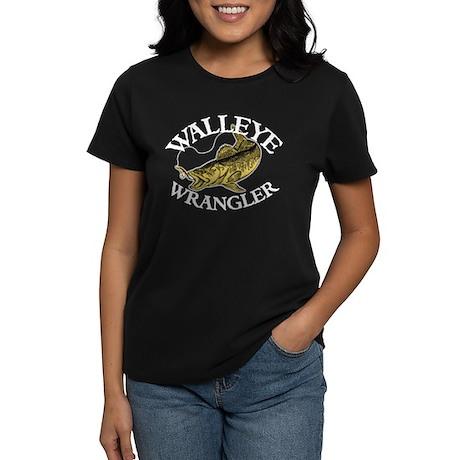 Walleye Wrangler Women's Dark T-Shirt