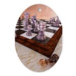 A Game of Chess Ornament (Oval)