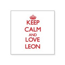 Keep calm and love Leon Sticker