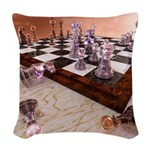 A Game of Chess Woven Throw Pillow