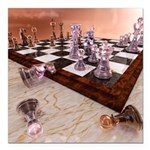 A Game of Chess Square Car Magnet 3