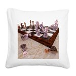 A Game of Chess Square Canvas Pillow