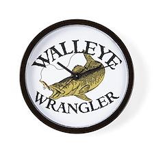 Walleye Wrangler Wall Clock