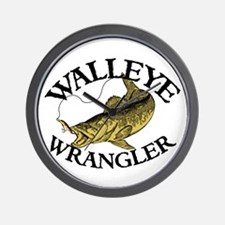 Walleye Wrangler Wall Clock