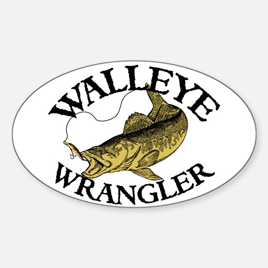 Walleye Wrangler Oval Decal