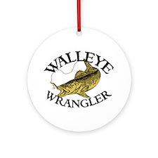 Walleye Wrangler Ornament (Round)