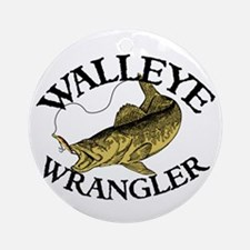 Walleye Wrangler Ornament (Round)