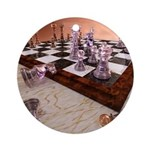 A Game of Chess Ornament (Round)