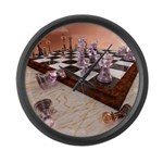 A Game of Chess Large Wall Clock