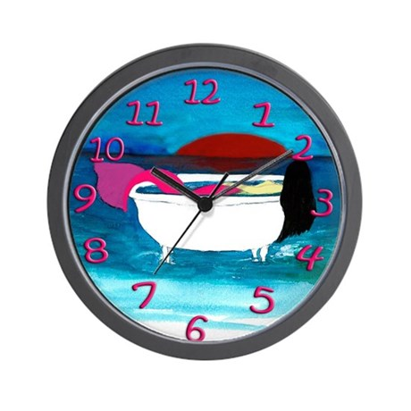 Bathtub Mermaid Wall Clock
