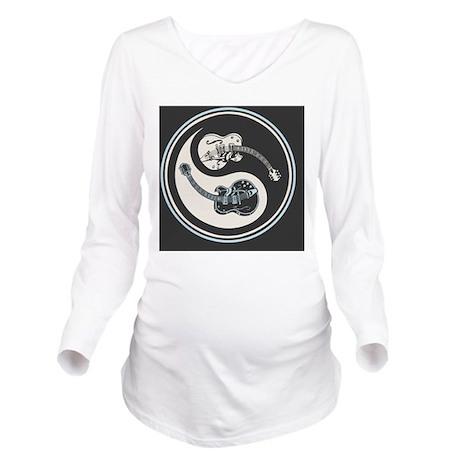 elec-guit-yang-OV Long Sleeve Maternity T-Shirt