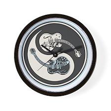 elec-guit-yang-T Wall Clock