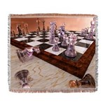 A Game of Chess Woven Blanket