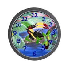 Toucan in the Rainforest Wall Clock