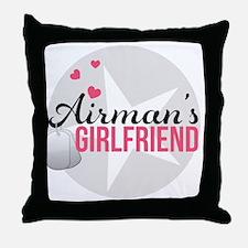 Airmans Girlfriend Throw Pillow