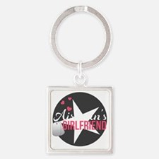 Airmans Girlfriend Square Keychain