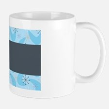 Blue and Grey Bag tag Mug