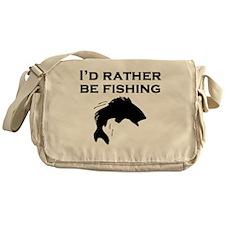 Id Rather Be Fishing Messenger Bag