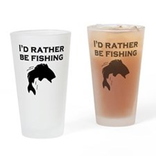Id Rather Be Fishing Drinking Glass
