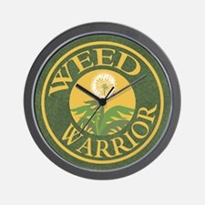 Weed Warrior Wall Clock