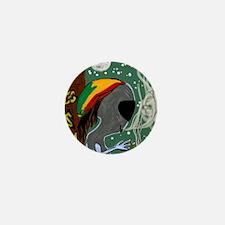 Rasta Alien - I Dig This Planet  Mini Button