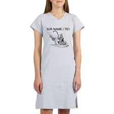Custom Fishing Cartoon Women's Nightshirt